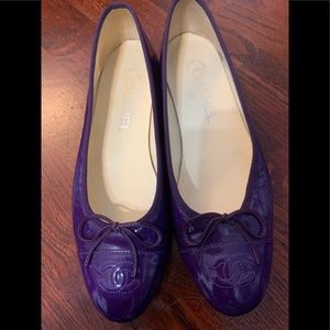 Chanel classic flats purple 37